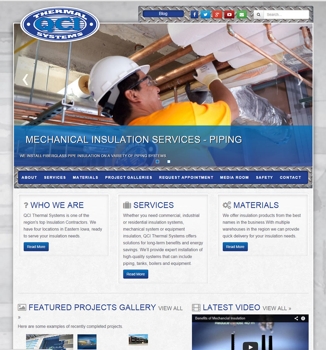Image of Website Home Page