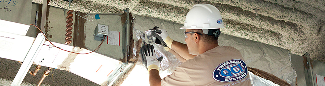 Image of Duct Wrap Installation